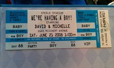 """Photo 2 of 12: Baseball / Baby Shower/Sip & See """"Michelle & David's Baby Shower"""" 