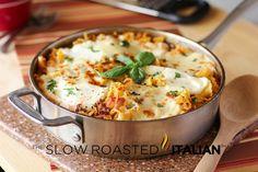 3 Cheese Skillet Lasagna, in 30 minutes! #recipe #skillet