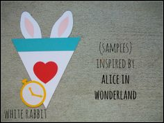 custom handmade banner inspired by Alice in Wonderland