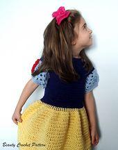 Ravelry: Princess Snow White Crochet Dress Pattern pattern by Beauty Crochet Pattern