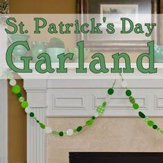 Hacer una guirnalda de papel para el dia de fiesta de San Patricio  -  Make a Festive St. Patrick's Day Paper Garland!  https://spoonful.com/crafts/make-festive-st-patricks-day-garland