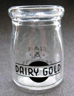 Tiny Dairy Gold vintage creamer