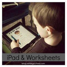 How we do worksheets (i.e. free printable downloads) on the iPad   iPad & Worksheets   blog.ashleypichea.com