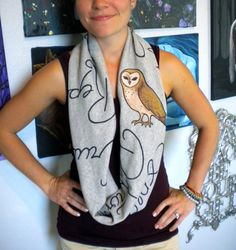 Harry Potter Infinity Scarf with spells