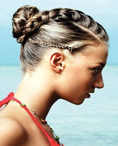 Cute sporty updo, minus the small side-braid
