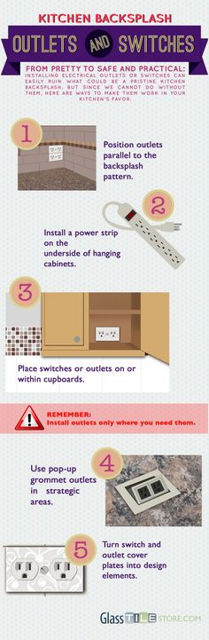Kitchen Backsplash Outlets and Switches [infographic]