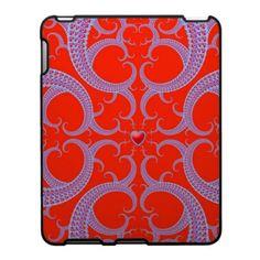 Red Heart Fractal Pattern Ipad Case $56.20