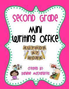 Second Grade | Second Grade Mini Writing Office