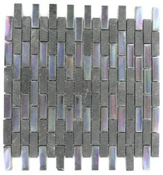 Geological Brick Black Slate & Rainbow Black Glass Tiles contemporary bathroom tile