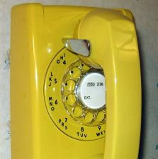 Kitchen wall phone w/ extra long cord. Pre-Cordless.