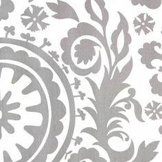 New Arrivals Inc Fabric - Suzani in Gray