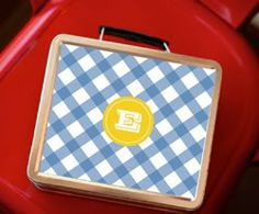 Adorable personalized lunch boxes made just for preschool-sized appetites.