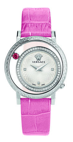 Explore the new generation of jewellery watches with Versace Venus. Studded with diamonds or pink topaz gemstones, you won't be able to take your eyes off it. #Versace #VersaceWatches