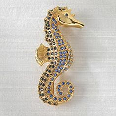Swarovski Sea Horse Brooch