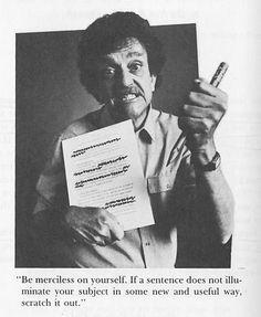 Timeless tips on writing from Kurt Vonnegut