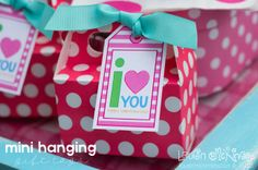 I Love You printable Valentine's Day collection from Lauren McKinsey.  Download your FREE gift tags.