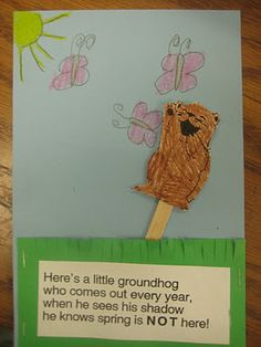 holiday, classroom, idea, craft, ground hog, februari, preschool, kid, groundhog day