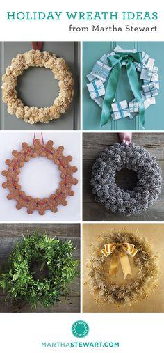 30+ handmade wreath ideas for the holidays.