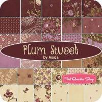 Plum Sweet MINI Charm Pack Blackbird Designs for Moda Fabrics