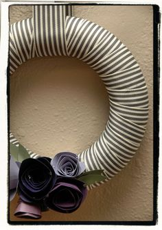 Might have to try to make a ribbon wreath next...