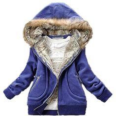 Muqi Women's Winter Coat,sweatshirt Fur Collar Coat Jacket - List price: $59.99 Price: $32.56 Saving: $27.43 (46%)