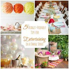 5 Tips for #Hosting an #Inexpensive #Party in a Small Space!