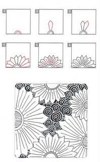 FLOWTUS zentangle flowers and patterns, draw, art, zentagl, zentangl pattern, doodl, flower zentangle patterns, zentangle pattern tutorial, flowtus