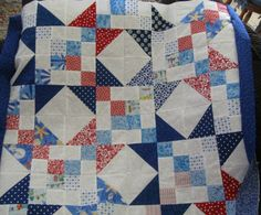 "scrappy stars quilt-""Buckeye Beauty"""