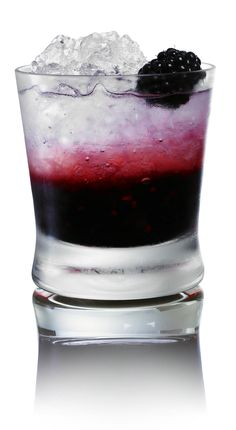 The Black Swan - muddled blackberries, lemonade, and vodka.