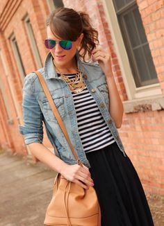 Stripes and denim // #fashion