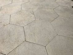 Antiqued limestone hexagon tiling - replicate historic centuries-old stone