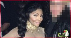 Another shot of Lil Kim's new face
