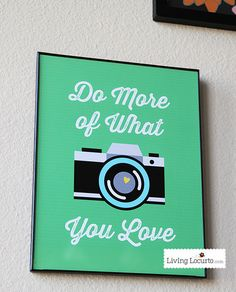 Camera & Photography Quote Printable Wall Art. LivingLocurto.com