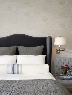 transitional bedroom by Jute Interior Design