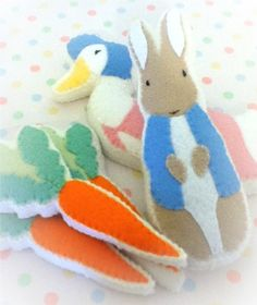 Felt peter rabbit
