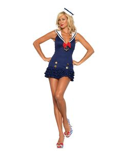 Sexy Sweetheart Sailor Adult Costume   Sexy Military Halloween Costumes