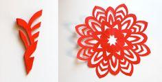 DIY paper-snowflakes