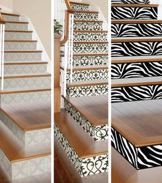 Give your stairs some flair with DIY Wallpapered Stair Risers from Joann.com