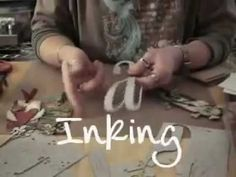 Tim Holtz - What is Ideaology Grungeboard - Getting a little refresher on how to use my grungeboard.