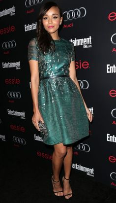 monique lhuillier, ador dress, ashley madekwe, dresses, gorgeous green, green dress, celeb fashion, beauty, actresses
