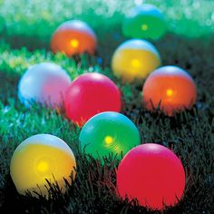 Bocce balls that light up. Definitely need these.