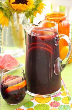 Red Wine Summer Sangria (and Sangria Slushies!) - Willow Bird Baking