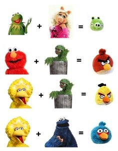 Angry Birds Sesame Street Math :)) i think my fav is the first one!