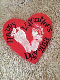 Babys first valentines day .