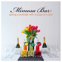 mimosa bar. yes, please.