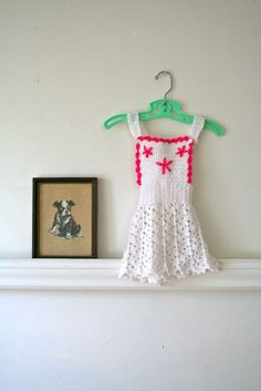 vintage baby crochet dress  PINAFORE hand knit dress / by MsTips, $20.00