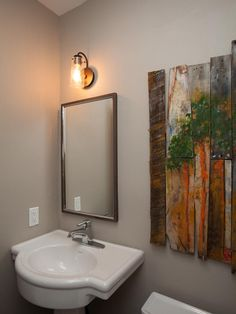 Red Team: Powder Room, After - Flipping the Block: Tour the Finished Bathrooms  on HGTV