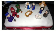 Fimo Nativity cake topper
