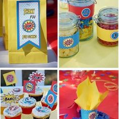 Superhero Birthday Pow Wow!  Cool Party bags