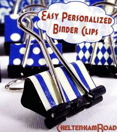 Fun Easy Decorative Binder Clips